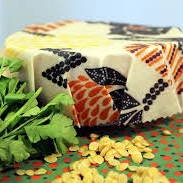 New Year's Resolution with Less Waste by replacing plastic with bees wax wrap to keep your food fresh.